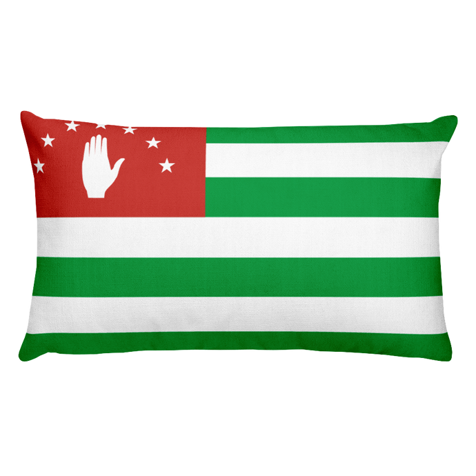 Abkhazia Flag Allover Print Rectangular Pillow