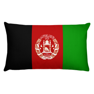 Afghanistan Flag Allover Print Rectangular Pillow