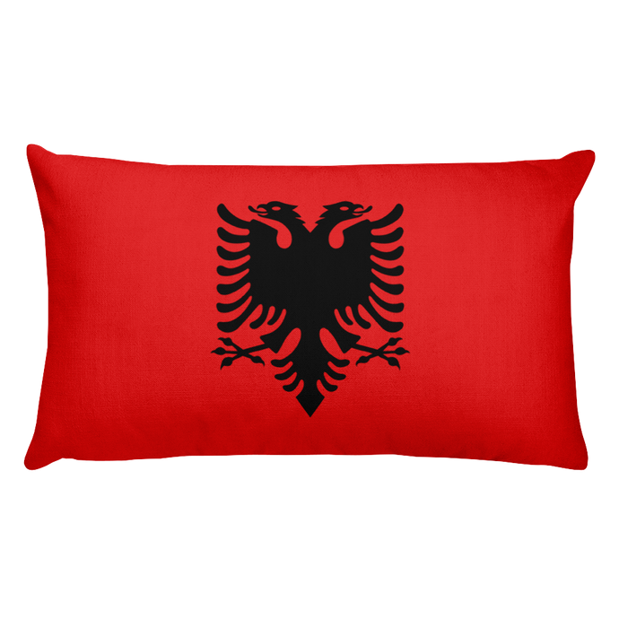 Albania Flag Allover Print Rectangular Pillow