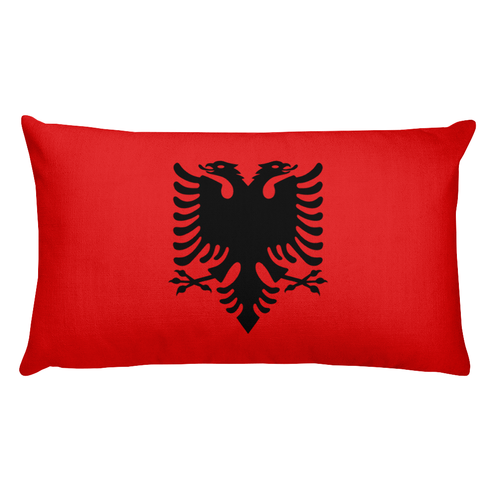 Default Title Albania Flag Allover Print Rectangular Pillow Home by Design Express