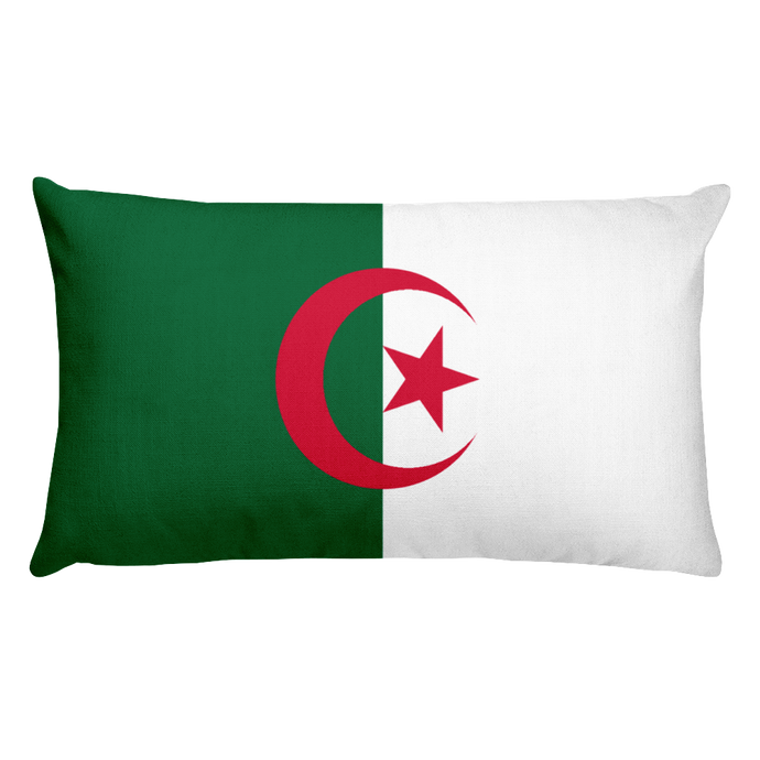 Algeria Flag Allover Print Rectangular Pillow
