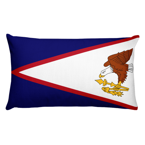 Default Title American Samoa Flag Allover Print Rectangular Pillow Home by Design Express