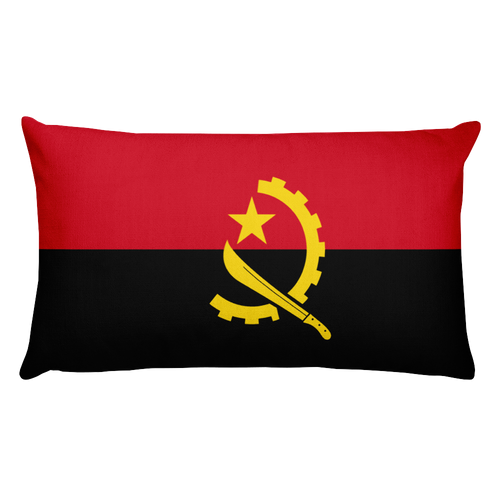 Default Title Angola Flag Allover Print Rectangular Pillow Home by Design Express