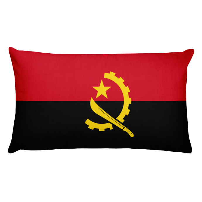 Angola Flag Allover Print Rectangular Pillow