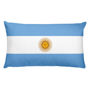 Default Title Argentina Flag Allover Print Rectangular Pillow Home by Design Express