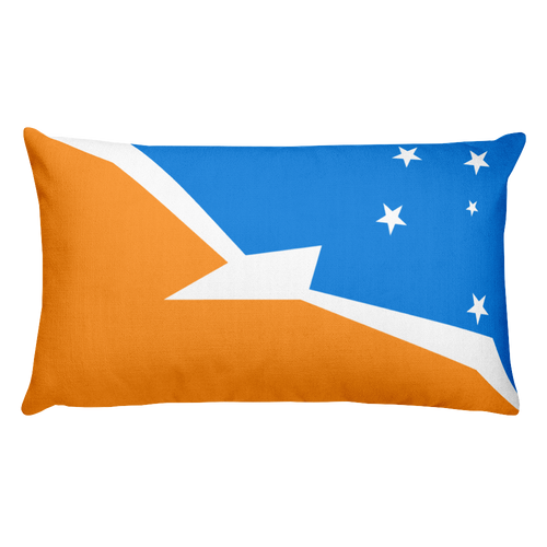 Default Title Argentine Antarctica Flag Allover Print Rectangular Pillow Home by Design Express