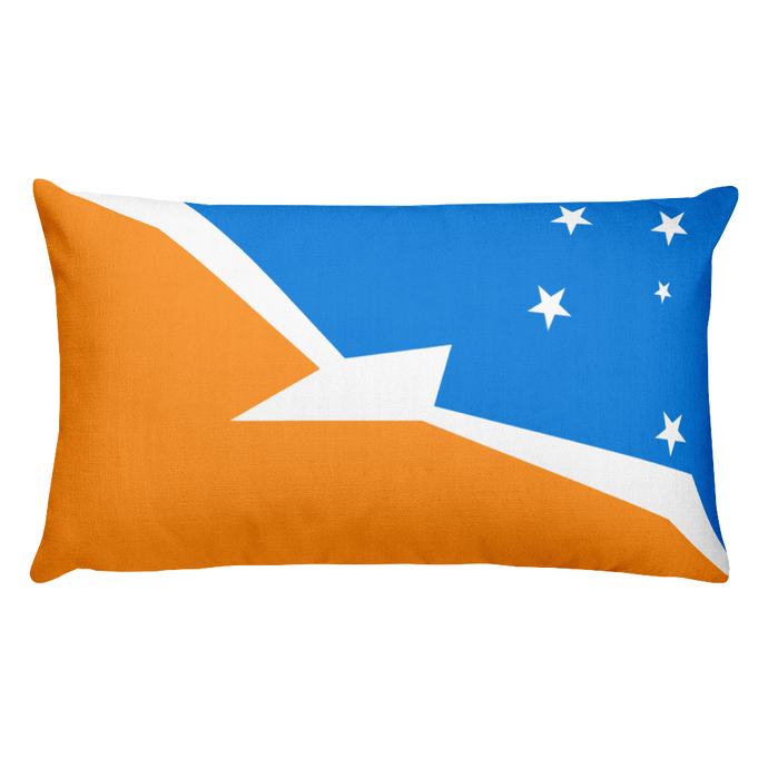 Argentine Antarctica Flag Allover Print Rectangular Pillow