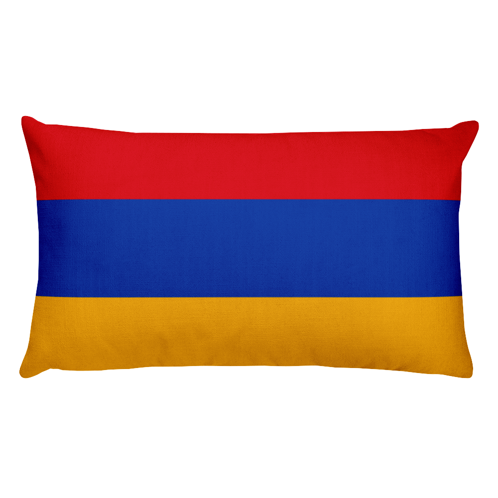 Default Title Armenia Flag Allover Print Rectangular Pillow Home by Design Express