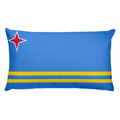 Default Title Aruba Flag Allover Print Rectangular Pillow Home by Design Express