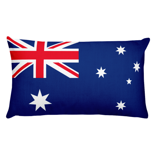 Default Title Ashmore and Cartier Islands Flag Allover Print Rectangular Pillow Home by Design Express