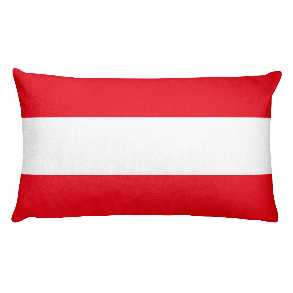 Austria Flag Allover Print Rectangular Pillow