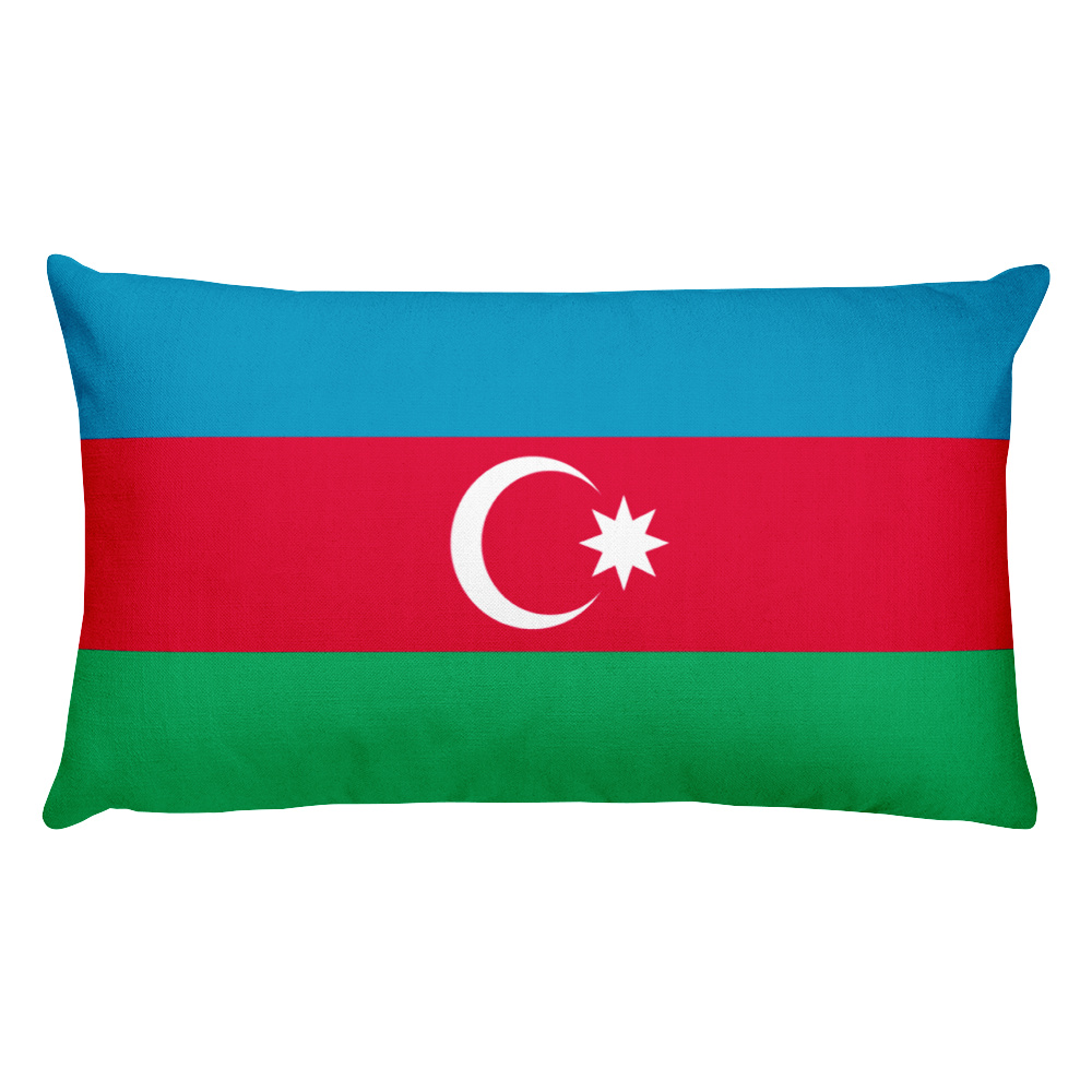 Azerbaijan Flag Allover Print Rectangular Pillow
