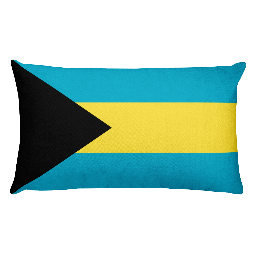 Default Title Bahamas Flag Allover Print Rectangular Pillow Home by Design Express