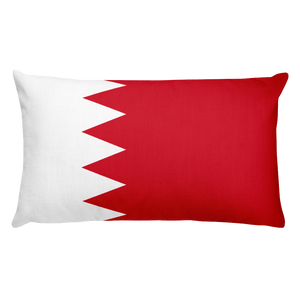 Bahrain Flag Allover Print Rectangular Pillow