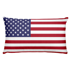 Baker Island Flag Allover Print Rectangular Pillow