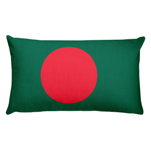 Default Title Bangladesh Flag Allover Print Rectangular Pillow Home by Design Express