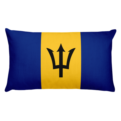 Default Title Barbados Flag Allover Print Rectangular Pillow Home by Design Express