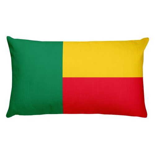 Default Title Benin Flag Allover Print Rectangular Pillow Home by Design Express