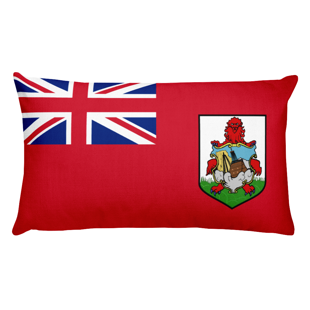 Bermuda Flag Allover Print Rectangular Pillow