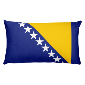 Bosnia and Herzegovina Flag Allover Print Rectangular Pillow