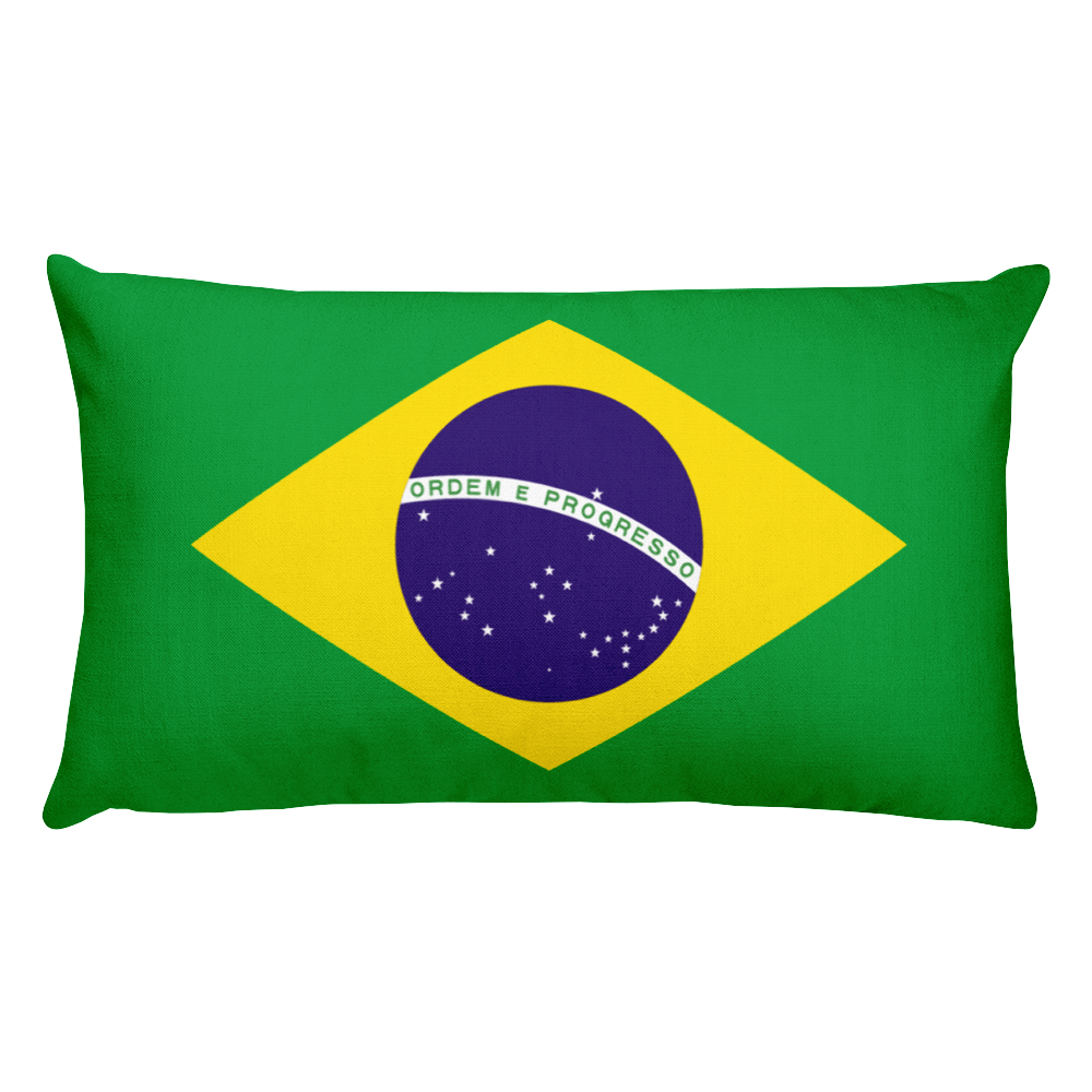 Default Title Brazil Flag Allover Print Rectangular Pillow Home by Design Express