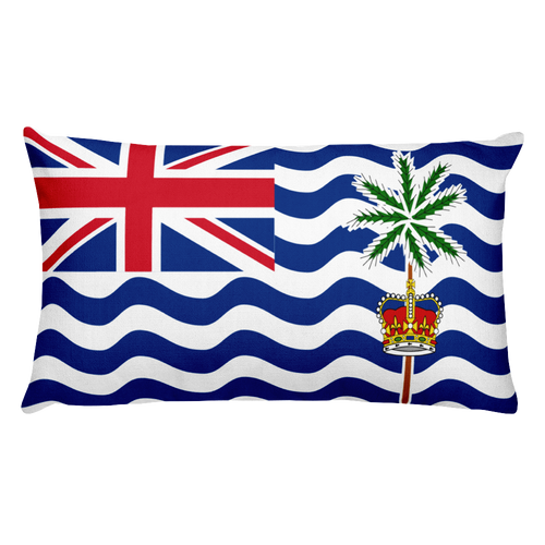 Default Title British Indian Ocean Territory Flag Allover Print Rectangular Pillow Home by Design Express