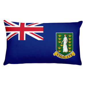 British Virgin Islands Flag Allover Print Rectangular Pillow