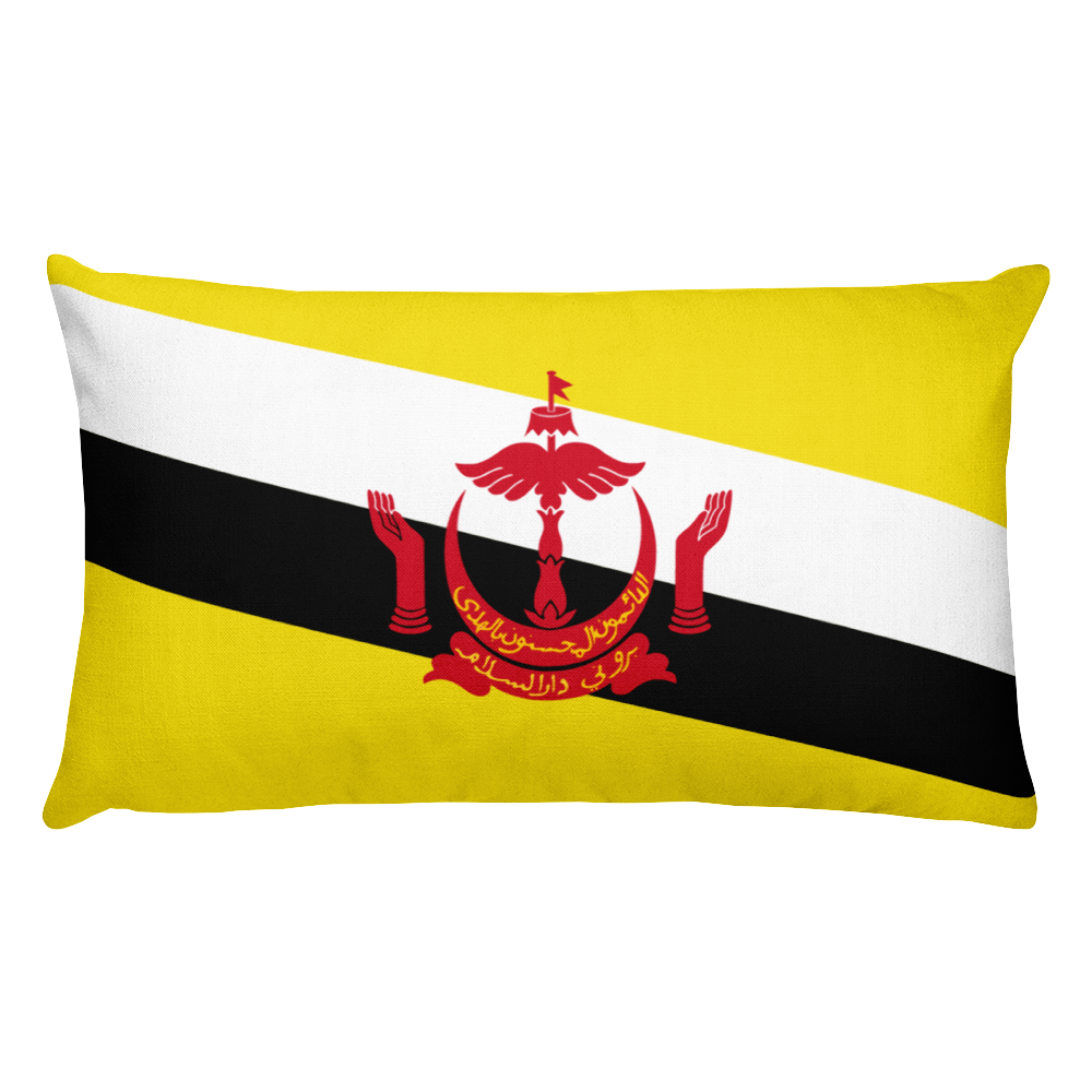 Brunei Flag Allover Print Rectangular Pillow
