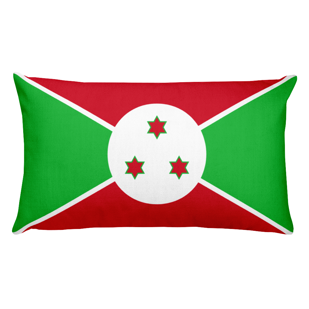 Default Title Burundi Flag Allover Print Rectangular Pillow Home by Design Express