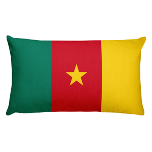 Cameroon Flag Allover Print Rectangular Pillow