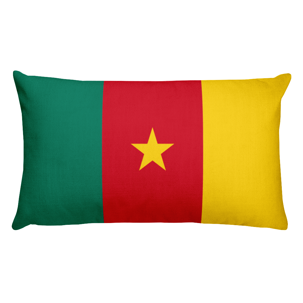 Default Title Cameroon Flag Allover Print Rectangular Pillow Home by Design Express