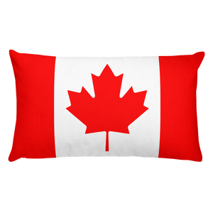 Default Title Canada Flag Allover Print Rectangular Pillow Home by Design Express