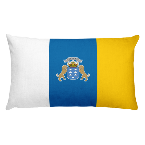 Default Title Canary Islands Flag Allover Print Rectangular Pillow Home by Design Express
