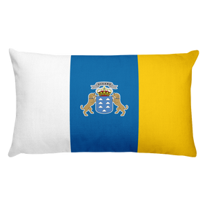 Canary Islands Flag Allover Print Rectangular Pillow