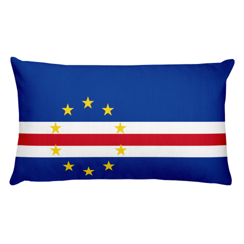 Default Title Cape Verde Flag Allover Print Rectangular Pillow Home by Design Express