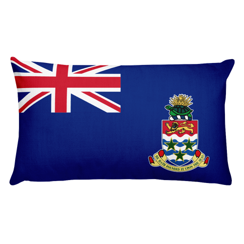 Default Title Cayman Islands Flag Allover Print Rectangular Pillow Home by Design Express
