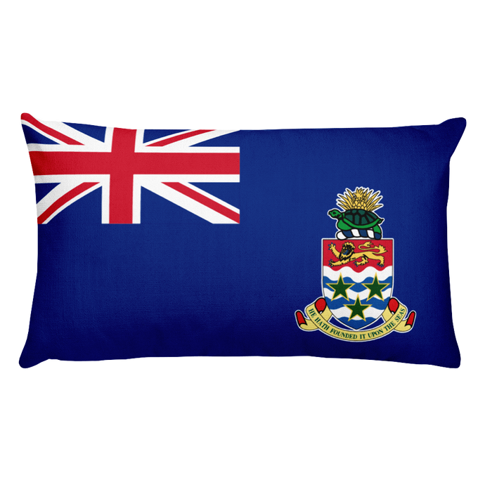 Cayman Islands Flag Allover Print Rectangular Pillow