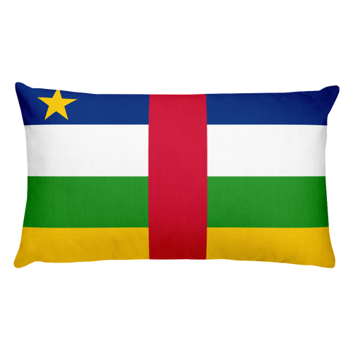 Default Title Central African Republic Flag Allover Print Rectangular Pillow Home by Design Express
