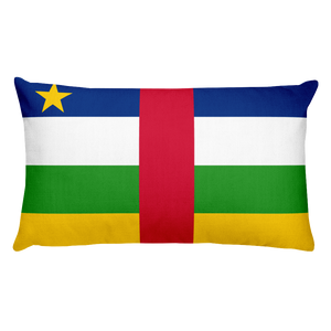 Central African Republic Flag Allover Print Rectangular Pillow