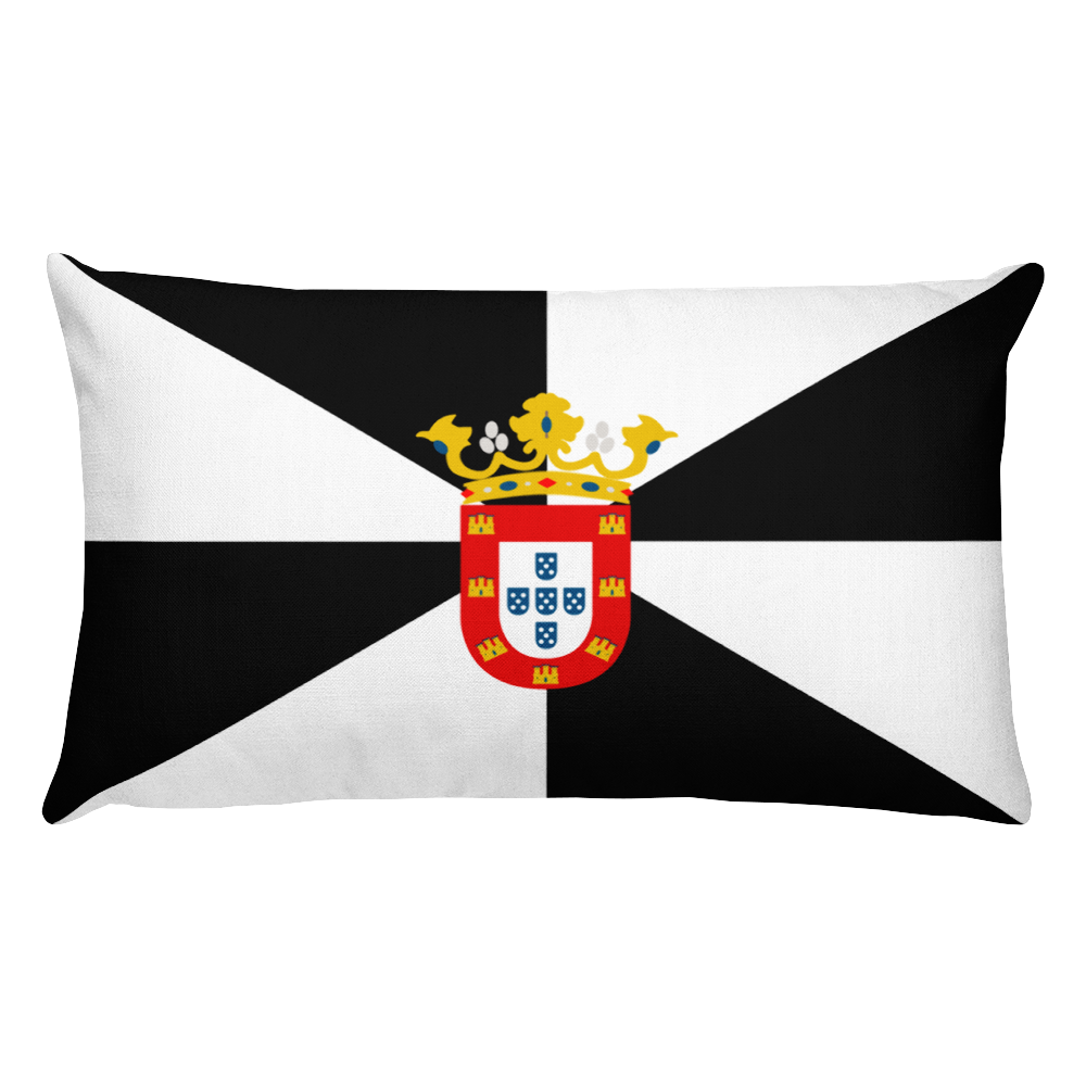 Ceuta Flag Allover Print Rectangular Pillow