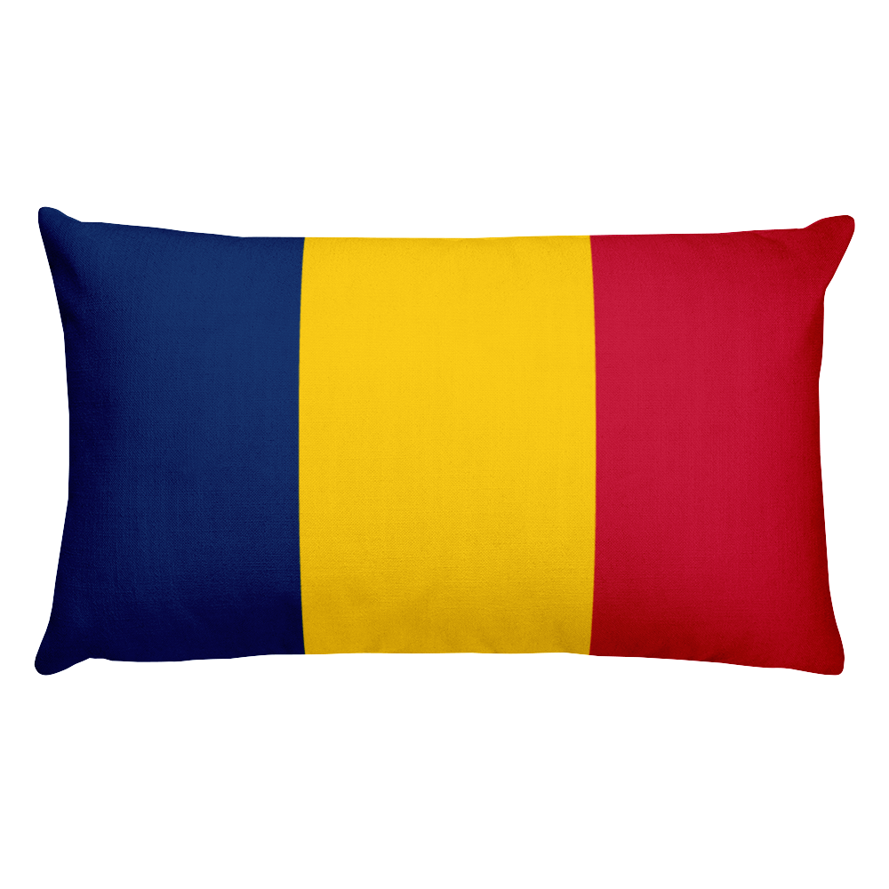Chad Flag Allover Print Rectangular Pillow
