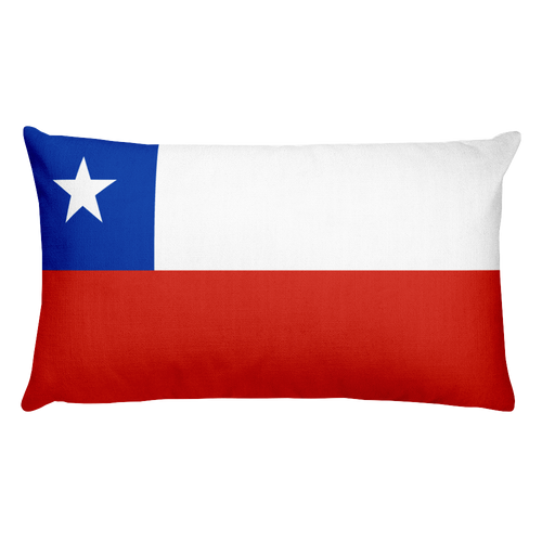 Default Title Chile Flag Allover Print Rectangular Pillow Home by Design Express