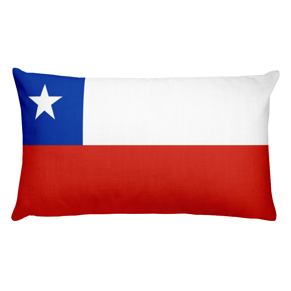 Chile Flag Allover Print Rectangular Pillow