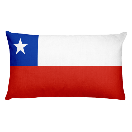 Default Title Chilean Antarctic Territory Flag Allover Print Rectangular Pillow Home by Design Express