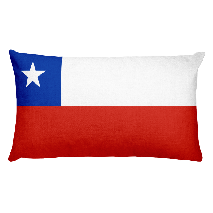 Chilean Antarctic Territory Flag Allover Print Rectangular Pillow
