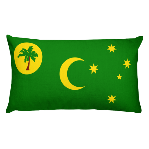 Default Title Cocos Islands Flag Allover Print Rectangular Pillow Home by Design Express