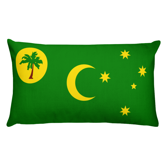 Cocos Islands Flag Allover Print Rectangular Pillow