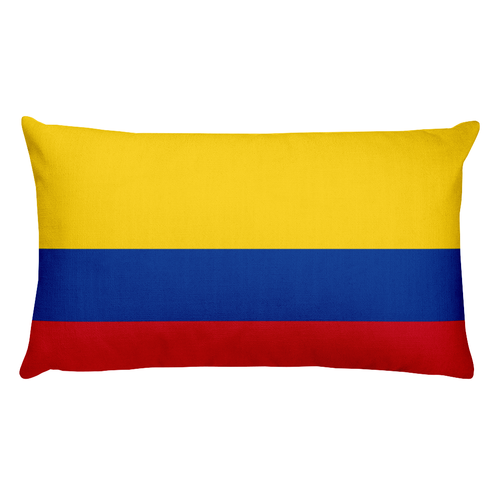 Colombia Flag Allover Print Rectangular Pillow