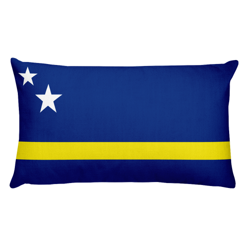 Default Title Curacao Flag Allover Print Rectangular Pillow Home by Design Express