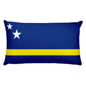 Curacao Flag Allover Print Rectangular Pillow
